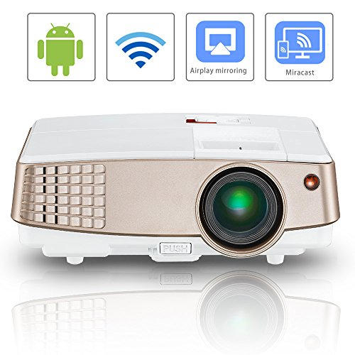 Wireless screen mirror lcd android projector portable for Mirror mini projector