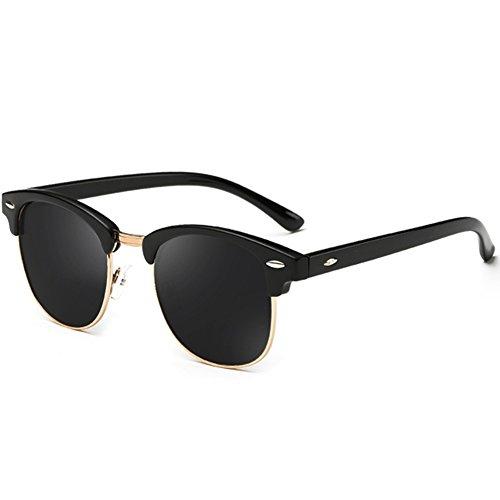 70418c8ea Joopin Semi Rimless Polarized Sunglasses Women Men Retro Brand Sun Glasses  Brilliat Black Frame, Simple packaging
