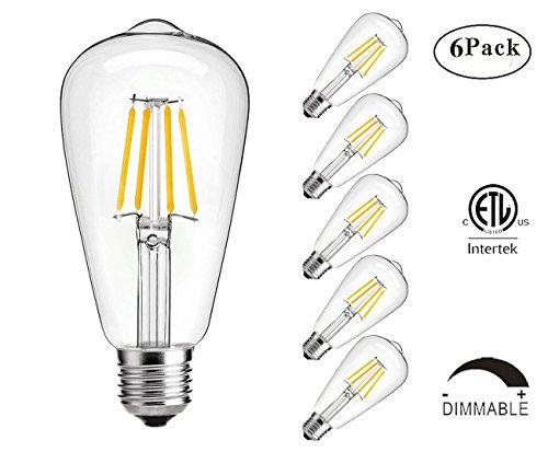 vintage edison led bulb  kingso 2w antique led bulb 60w incandescent bulb equivalent  2700k warm
