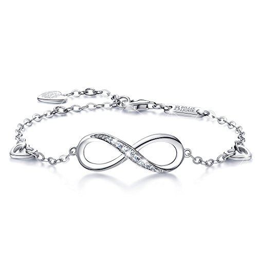 f861b33c0fa5b0 Elaborate design❤ - the 925 sterling silver Infinity heart womens jewelry  bracelets represent the endless love, friendship, forever love for women.