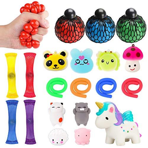 Kawaii Mochi 20pcs Relieve Stress for Autism Sensory Fidget Toys with Stretchy String